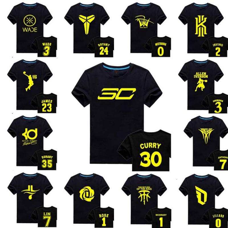短袖篮球服科比詹姆斯库里麦迪欧文学生半袖套装球衣球星t恤定制