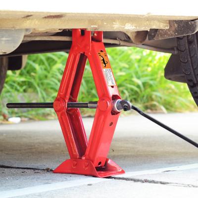 汽车千斤顶手摇式小轿车用小车换胎专用工具阿斯卡利车载液压摇杆卧式2吨ASCARI 黑色2吨