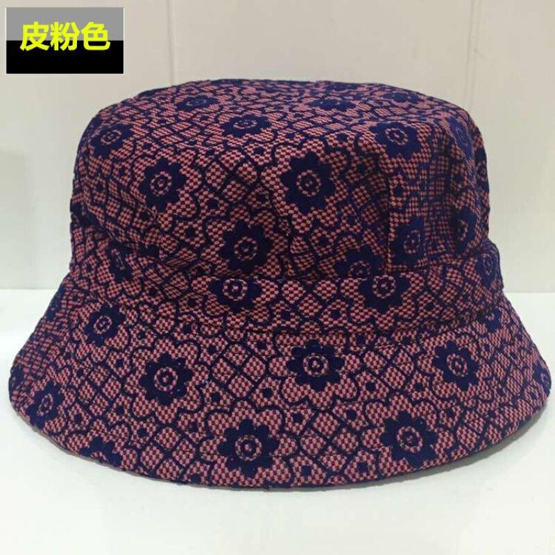 中老年帽子女士春夏时装帽盆帽老人帽子中年女帽春秋休闲妈妈帽梅花款