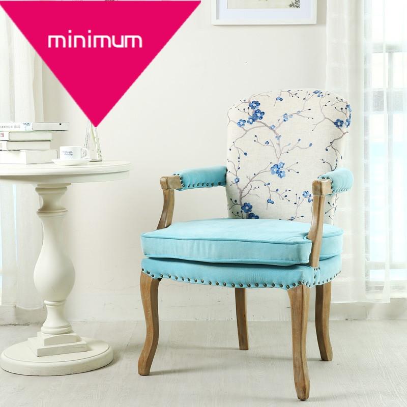 美式书房椅实木休闲餐椅欧式复古椅做旧沙发椅酒店咖啡靠背扶手椅l