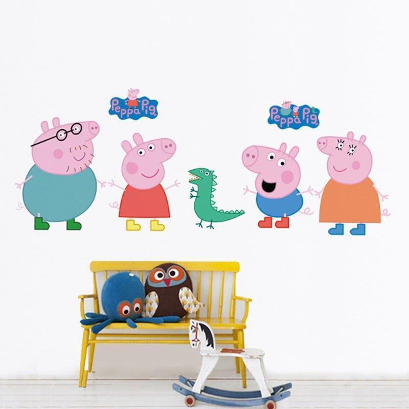猪可爱卡通墙贴纸儿童房贴画幼儿园装饰品生活日用家庭清洁生活日用
