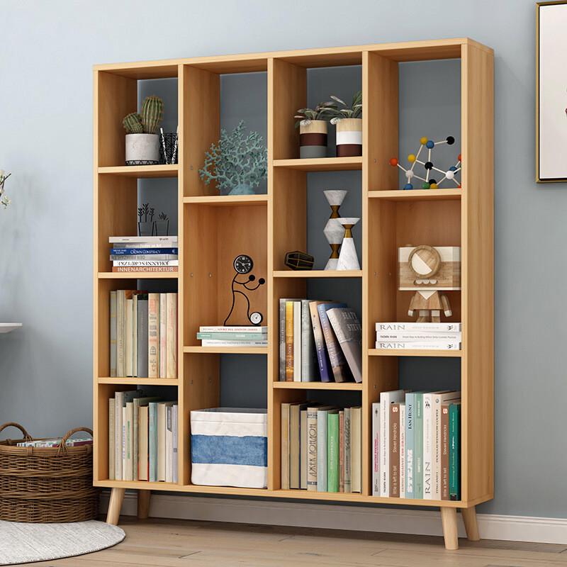 简约现代学生书柜书架办公柜h款原野橡木巧慧收纳多款式选择破损包补图片