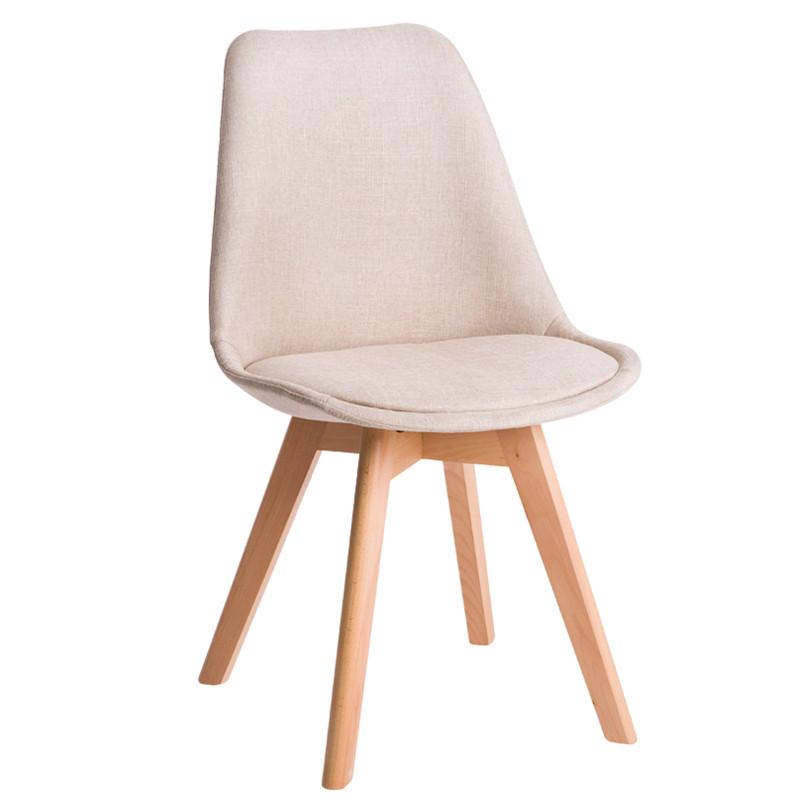 北欧伊姆斯椅子现代简约凳子创意实木靠背餐椅休闲书桌椅布艺家用图片