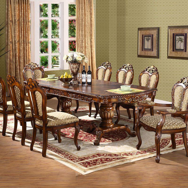 欧式餐桌椅组合可伸缩折叠圆餐