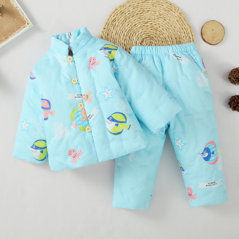 儿童装手工棉花棉袄棉裤套装 幼儿宝宝棉衣内胆1-3岁婴儿加厚冬装