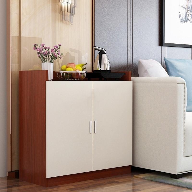 茶柜茶水柜简约小办公室客厅实木储物水桶柜餐边柜简易饮水机柜子