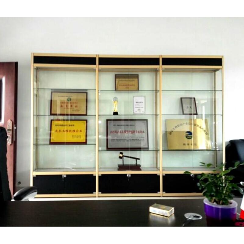 四方达荣誉证书展示柜奖杯奖牌精品积分陈列柜办公室样品展柜产品货架