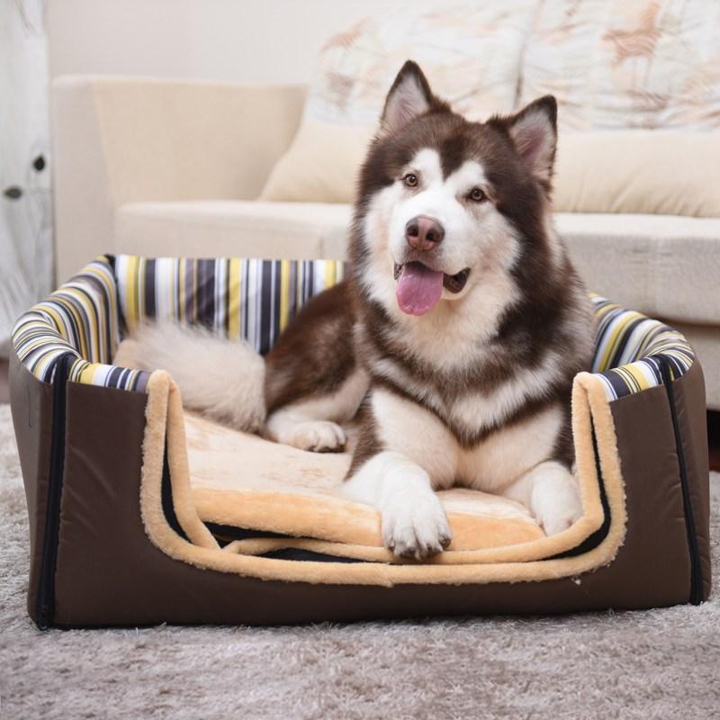 狗窝大型犬宠物窝金毛萨摩耶狗房子狗屋中型犬室内可拆洗狗狗床