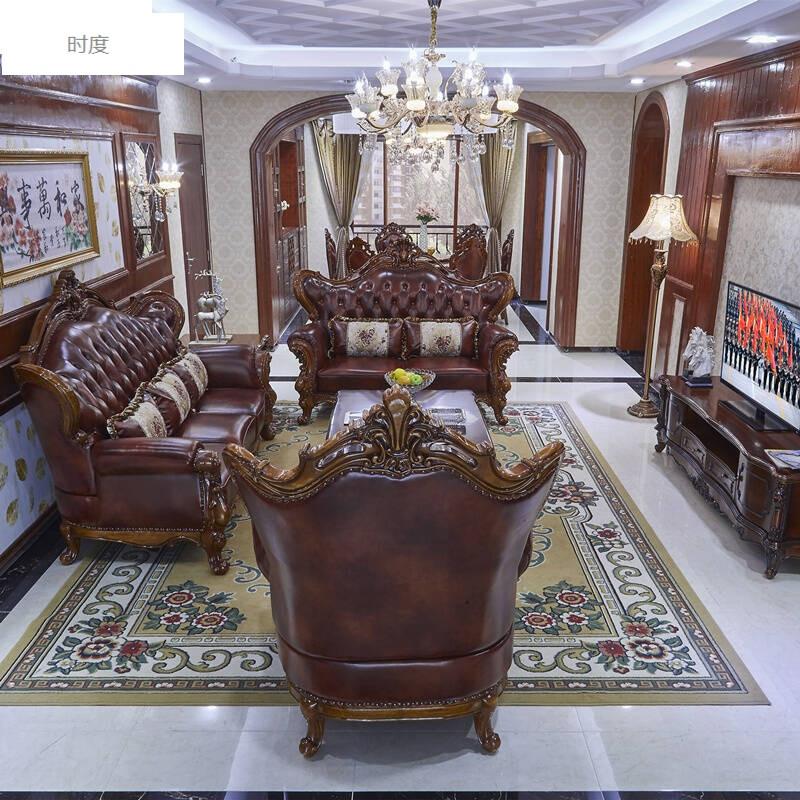时度欧式沙发组合客厅双面雕花3d展示别墅沙发欧式新古典家具图片颜色