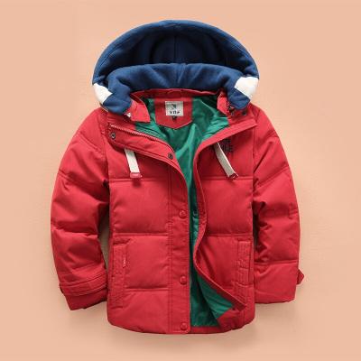 鸡鸡扎扎 儿童羽绒服男童短款纯色羽绒服中大童冬季加厚羽绒服外套