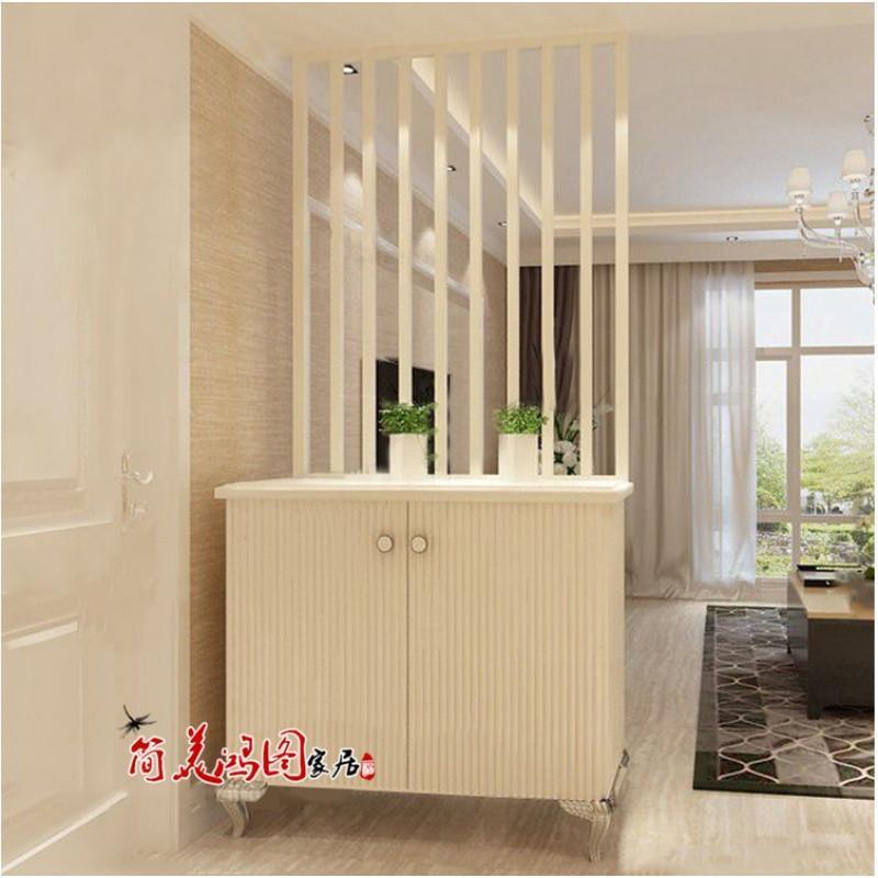 爵尼现代简约雕花屏风鞋柜钢琴烤漆屏风隔断柜时尚个性玄关门厅柜特价