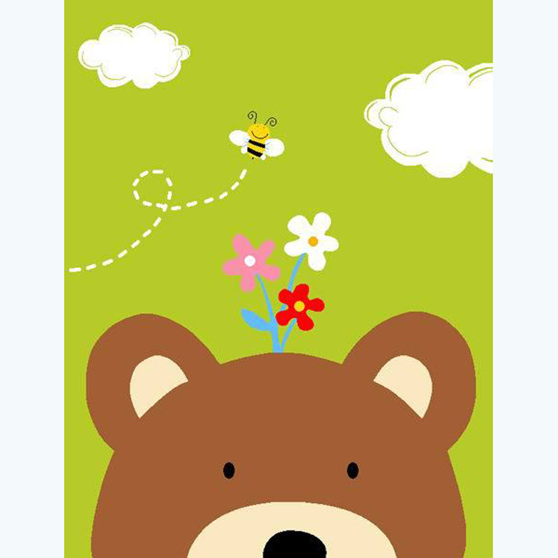 儿童地垫长方形卡通地毯超萌动物宝宝爬行垫客厅卧室防滑进门地垫入户图片