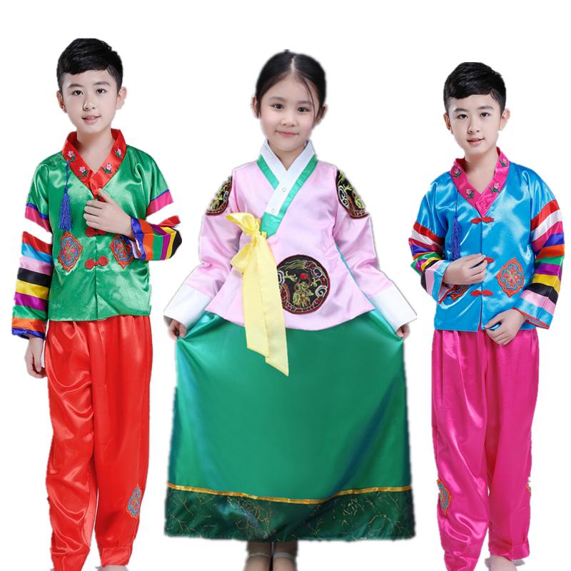 韩国传统 小女孩宝宝儿童韩服朝鲜族少数民族舞台表演出舞蹈套装