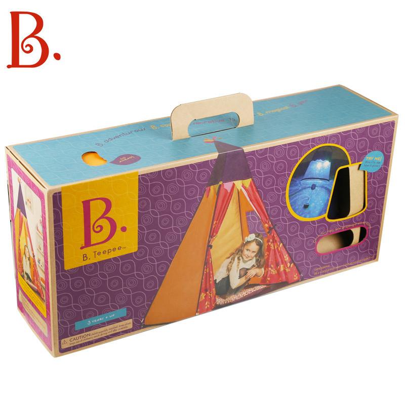 b.toys儿童帐篷布宝宝游戏房子印第安灯光幼儿帐篷婴儿玩具屋