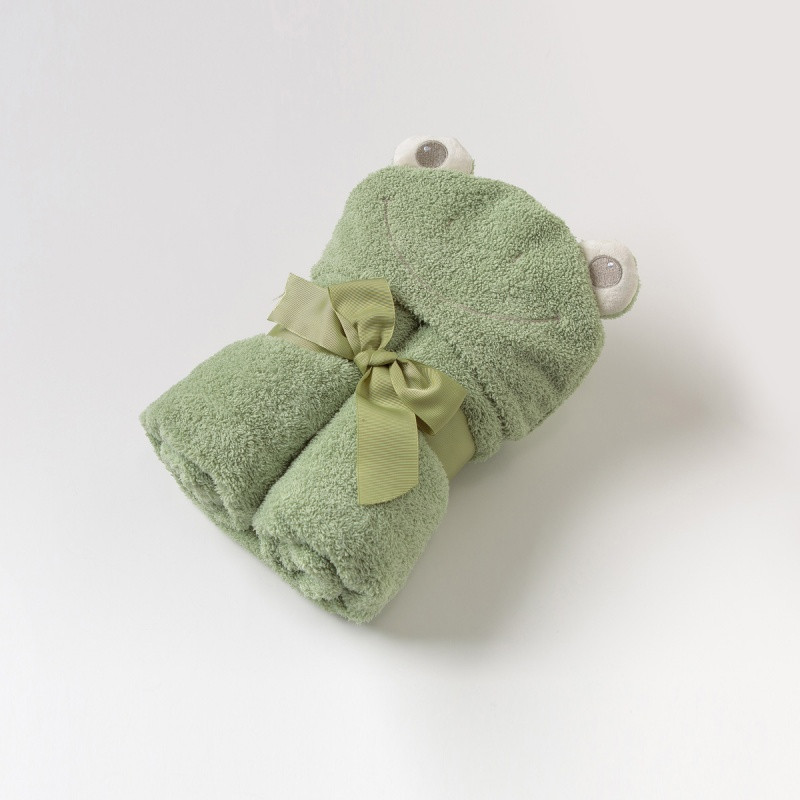 davebella戴维贝拉男女宝宝婴儿春秋季新款可爱动物浴巾