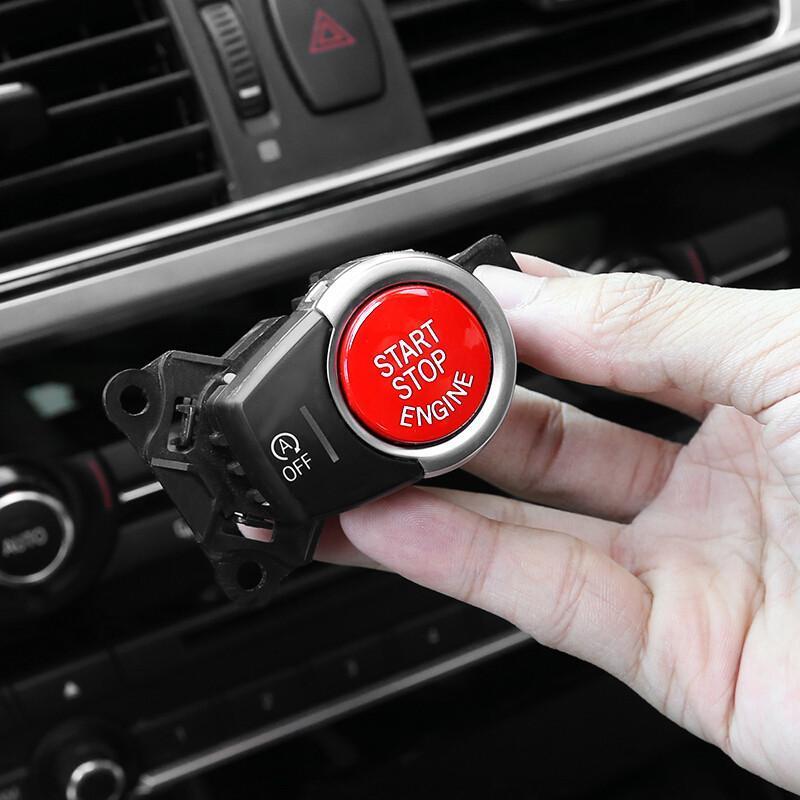 适用于宝马内饰改装134567系x2x3x4x5点火开关红按钮一键启动按键
