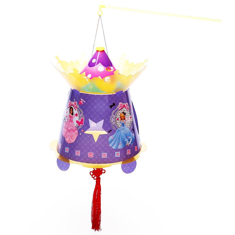 元宵节diy灯笼手工制作材料包 卡通春节灯笼幼儿园儿童手提花灯笼