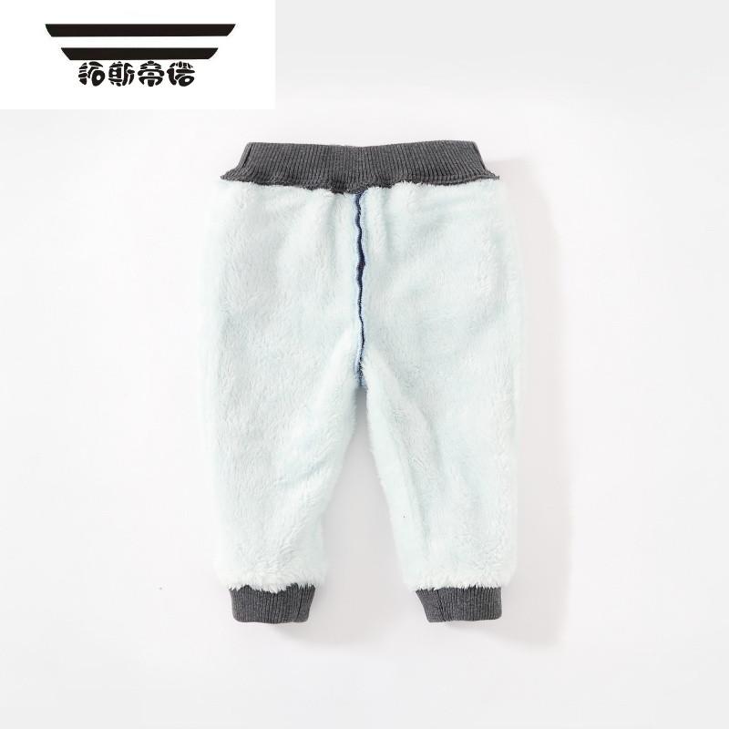 2017宝宝冬装新款 男童牛仔裤 婴儿棉裤 小孩加绒裤子