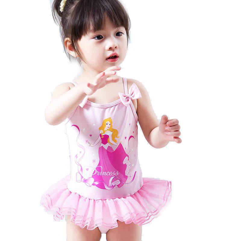 粉色可爱女童儿童连体泳衣女孩宝宝泳装温泉游泳衣
