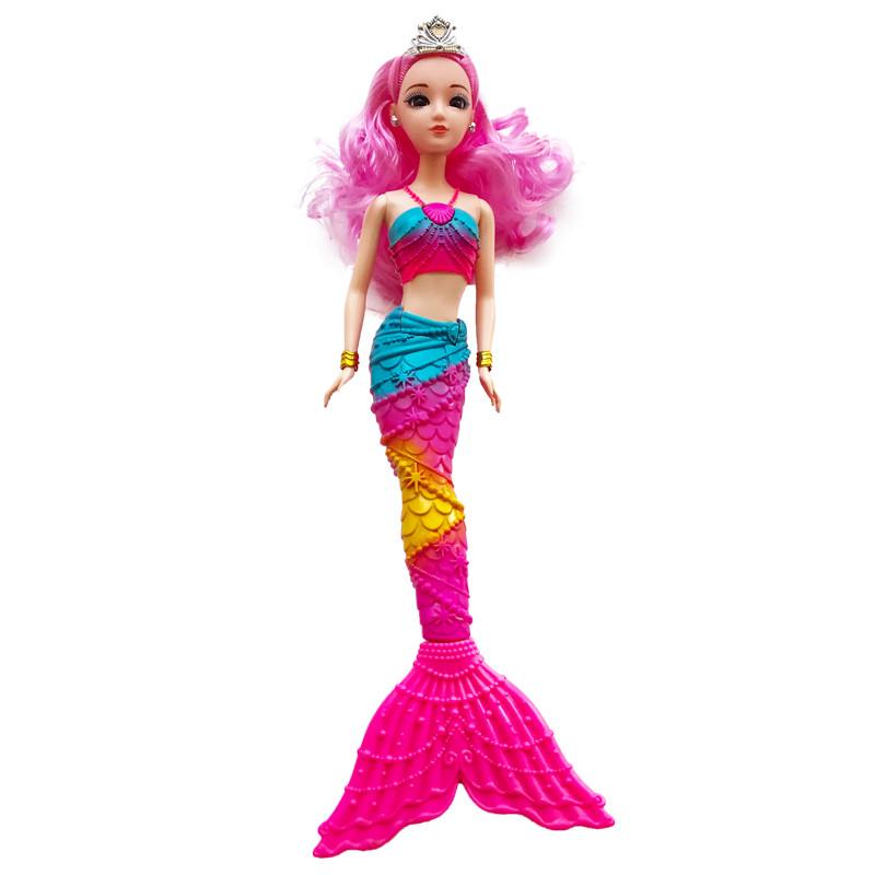美人鱼礼盒玩具七彩价格娃娃人鱼3d真眼芭芘公主大翅膀玩具女孩闪光v礼盒套装飞机礼物图片