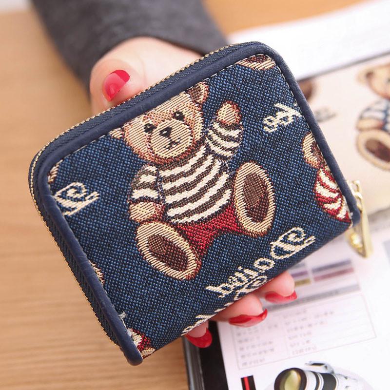 韩版女士迷你小钱包短款可爱学生零钱包袋卡包韩国硬币包简约个性