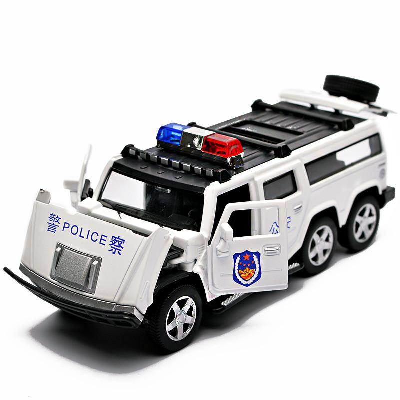 促銷兒童玩具仿真120救護車合金110警車小汽車車模男孩模型特警玩具車