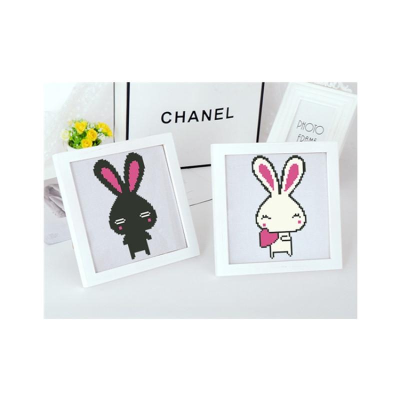 简单十字绣新手入门小幅可爱十字绣学生款十字绣儿童款十字绣兔子