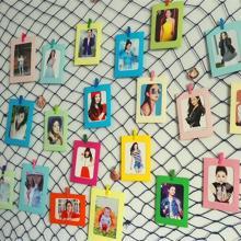 创意渔网照片墙装饰 悬挂纸相框墙饰 幼儿园宿舍墙装饰简易相框墙图片