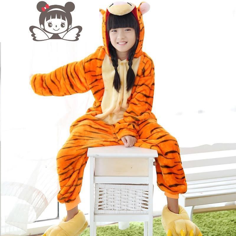 冬季4小朋友5老虎表演服6法兰绒7儿童8动物连体睡衣9岁小孩家居服