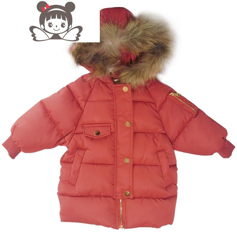 女童棉袄加厚冬装17新款童装儿童女宝宝棉衣羽绒棉服外套1-2-3岁4