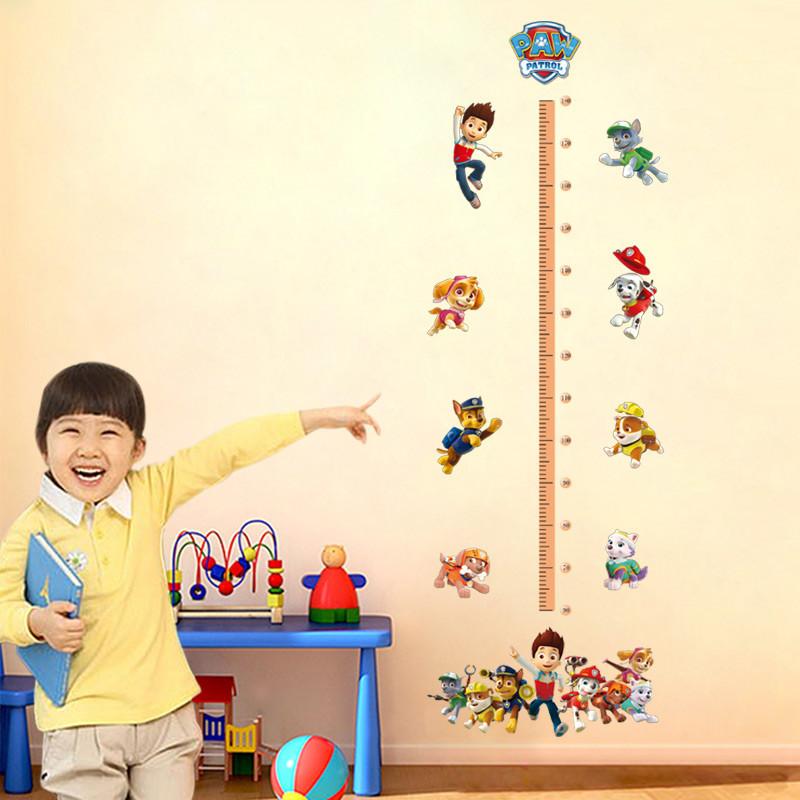 卡通身高贴纸墙贴画汪汪队立大功宝宝测量身高尺儿童房装饰可移除
