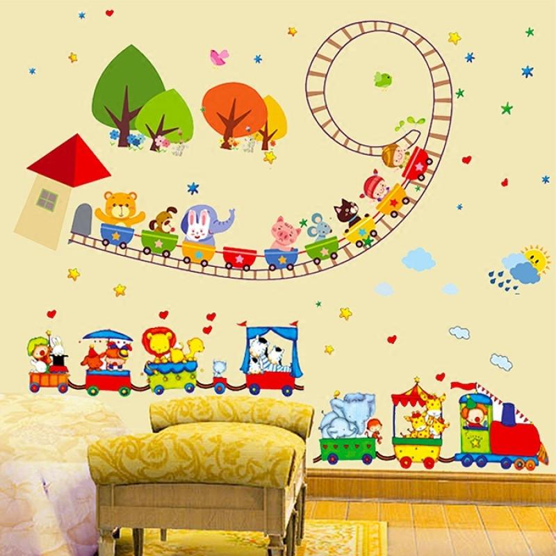 可爱卡通动漫墙贴儿童房宝宝卧室早教所幼儿园开学装饰墙贴画贴纸