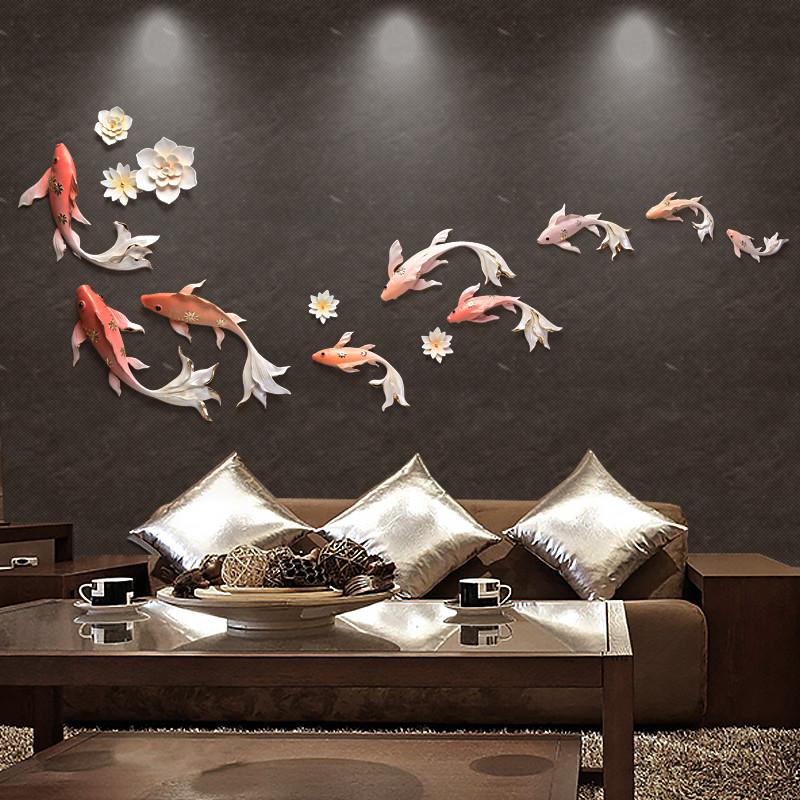 立体鱼墙饰壁饰创意挂件壁挂墙壁装饰3d房间装饰品墙面装饰背景墙