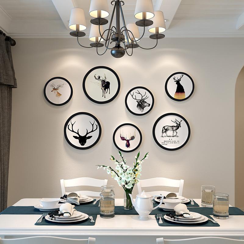北欧餐厅墙面装饰品饭店欧式简约现代墙上家居立体麋鹿头壁挂壁饰