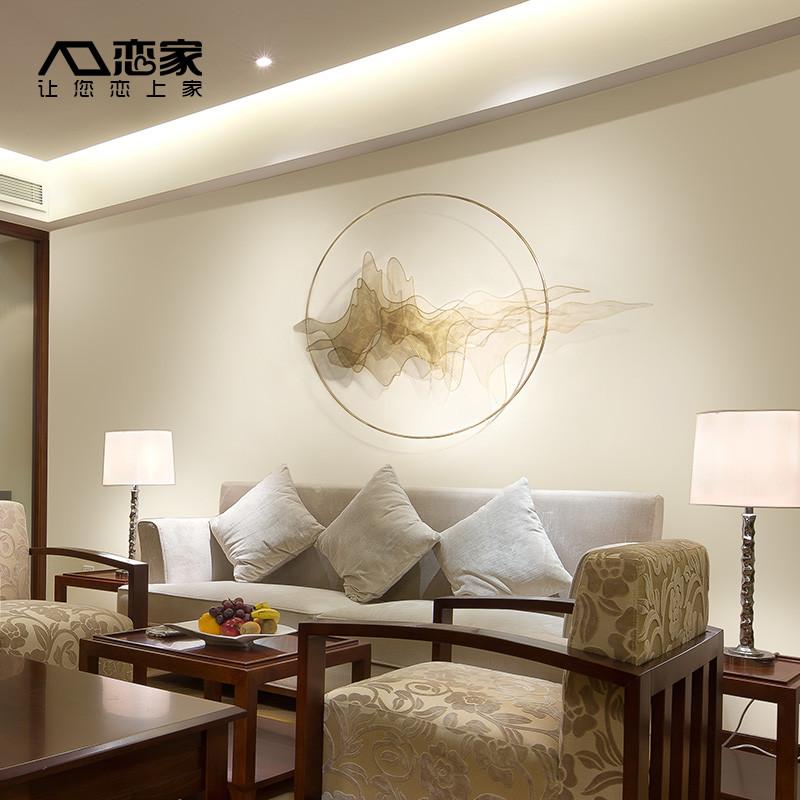 中式金属壁挂客厅卧室寝室墙壁墙面装饰品挂件创意假山水家居壁饰图片