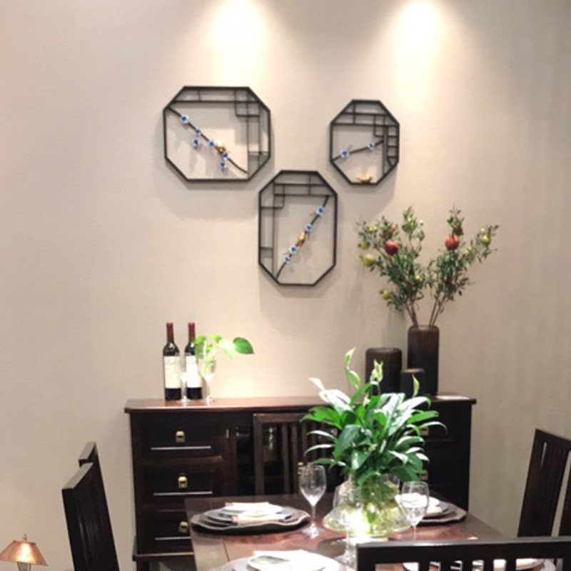 新中式墙面装饰品创意家居客厅电视沙发背景墙饰壁挂铁艺壁饰挂件
