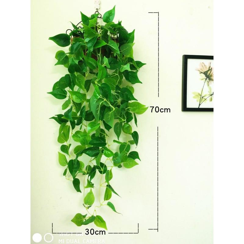 仿真绿萝植物假绿叶墙壁花藤吊兰装饰壁挂藤条叶子塑料爬山虎室内