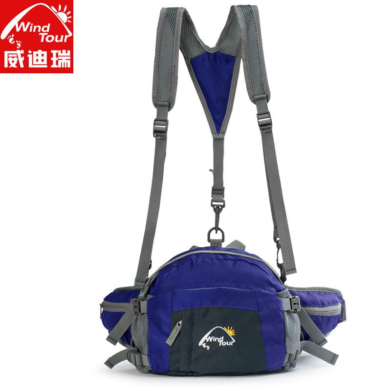 多功能大容量运动休闲户外腰包男女款野营挎包骑行包双肩包