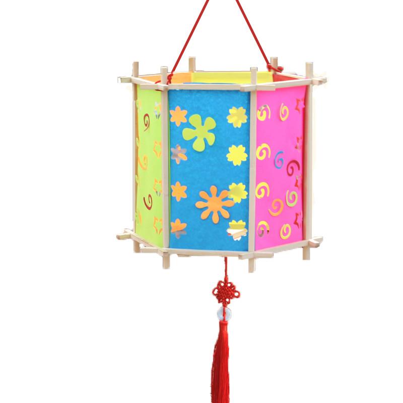 新年元宵灯笼 节日手提宫灯仿古中式灯笼儿童手工diy古典纸灯笼