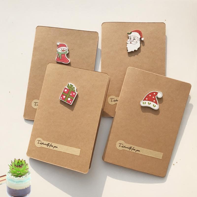 创意手工diy贺卡信封万用可爱小动物牛皮纸生日大卡片