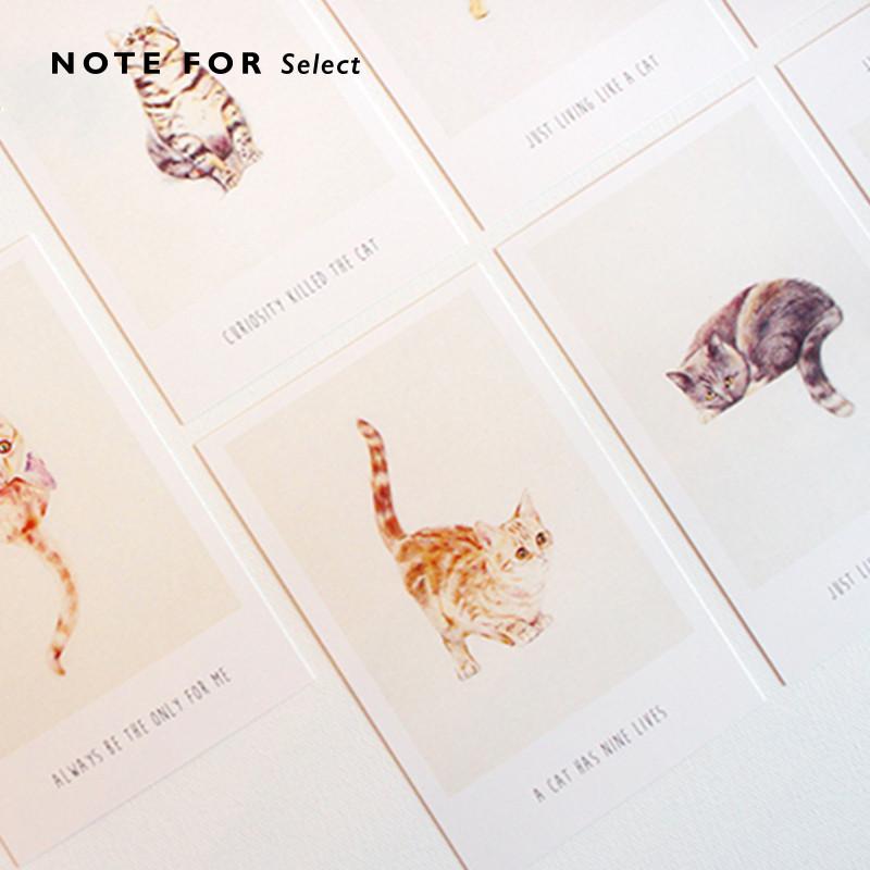 明信片 文艺小清新盒装留言卡创意风景异形卡片贺卡文具