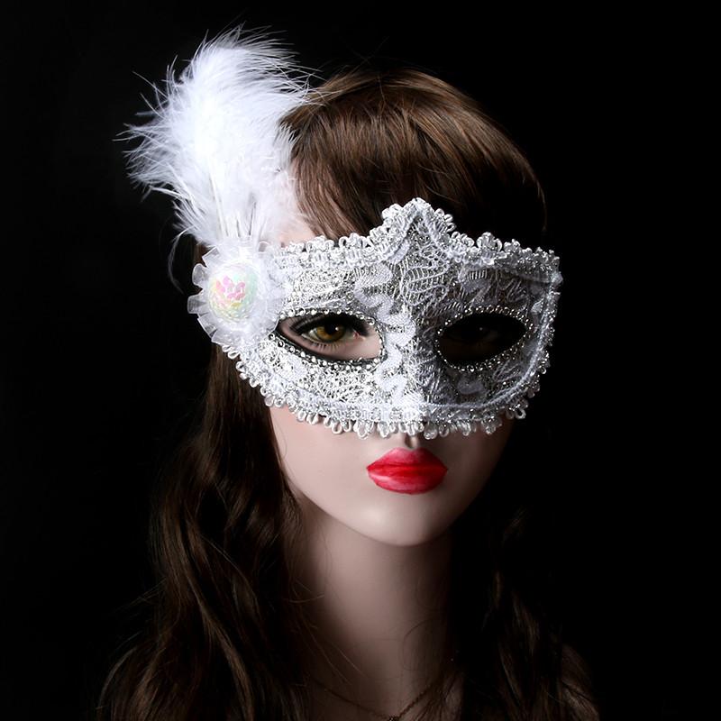 女半脸面具女性感面具威尼斯公主化妆舞会假面公主面具儿童面具