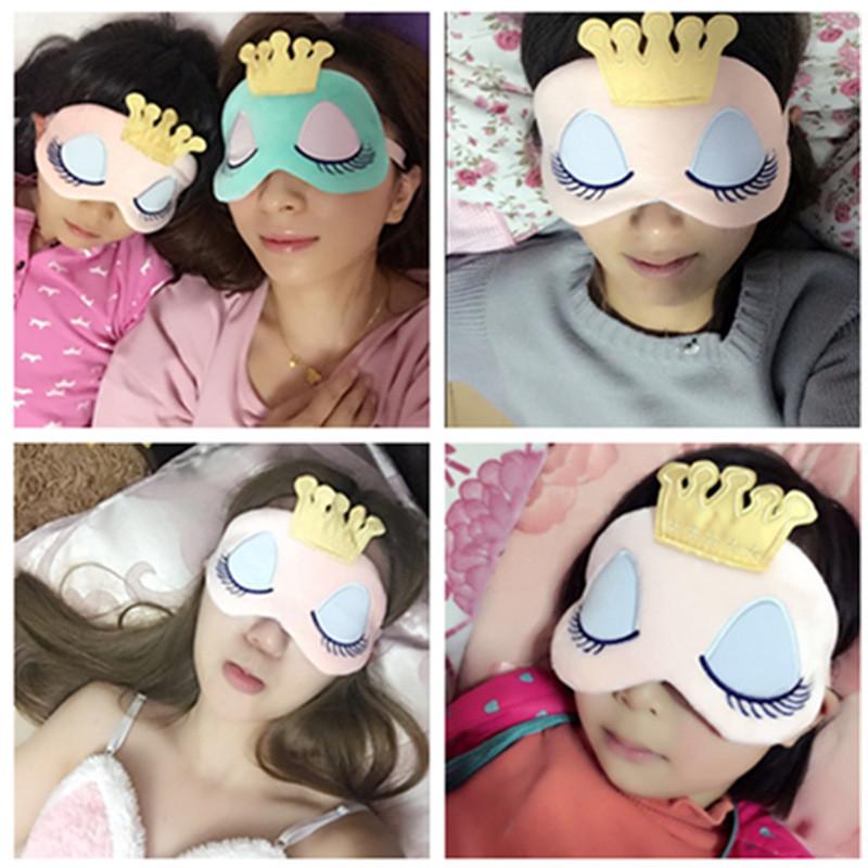 遮光睡眠护眼罩冰袋卡通可爱透气女睡觉午睡冰敷热敷送耳塞