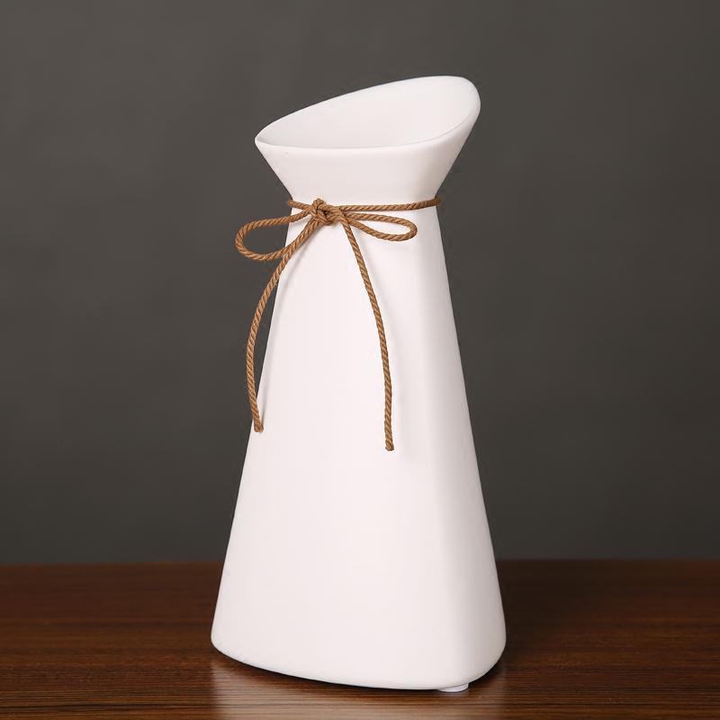 现代简约家居饰品创意彩色几何陶瓷花瓶干花器客厅插花装饰品摆件