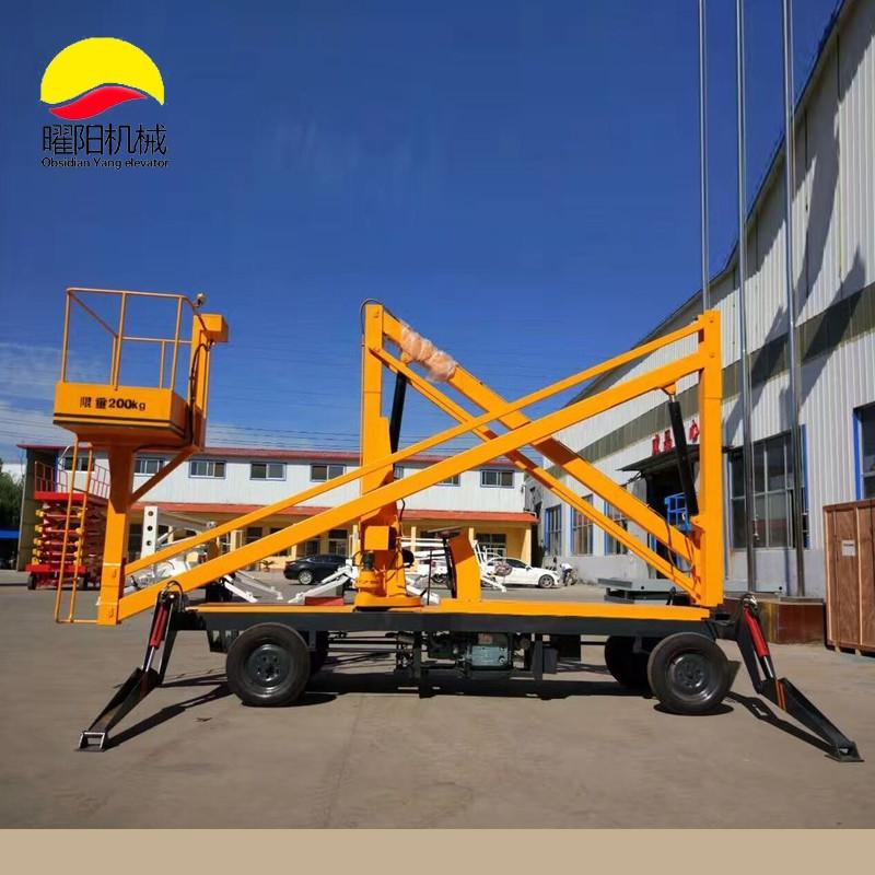 曲臂式升降机自行走高空作业平台车电动移动柴油液压路灯维修机梯高空图片