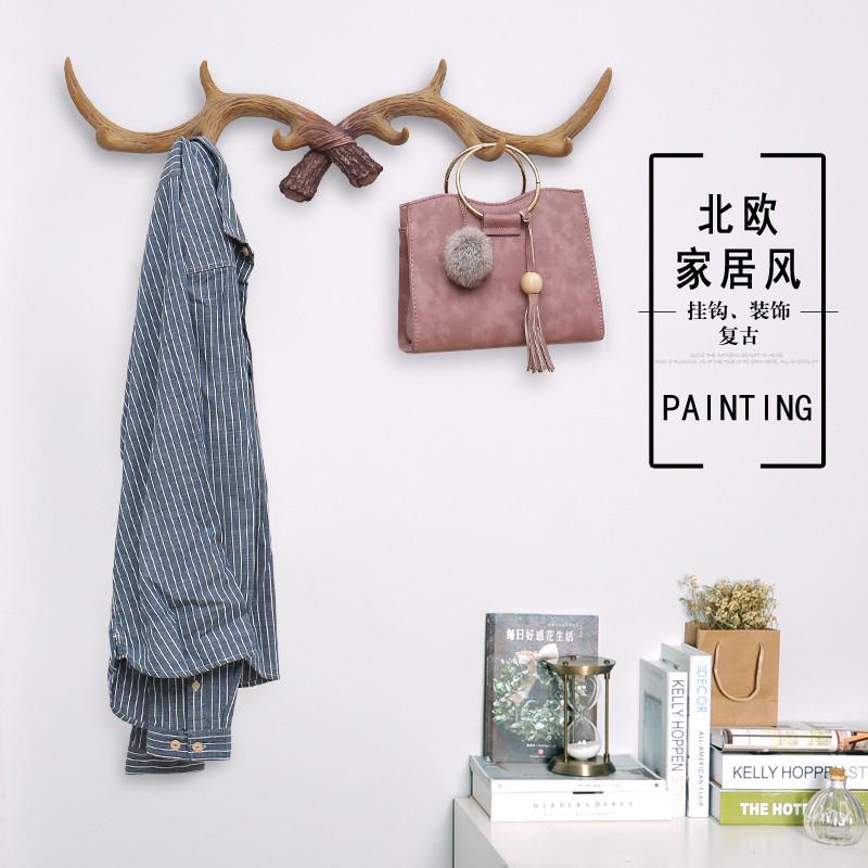 北欧家居创意鹿角店铺装饰卧室房间墙上装饰品墙面墙饰壁饰挂饰图片