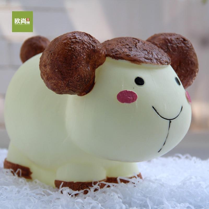 创意可爱大号超萌生肖狗储蓄罐卡通羊萌萌牛存钱罐熊猫零钱罐礼品