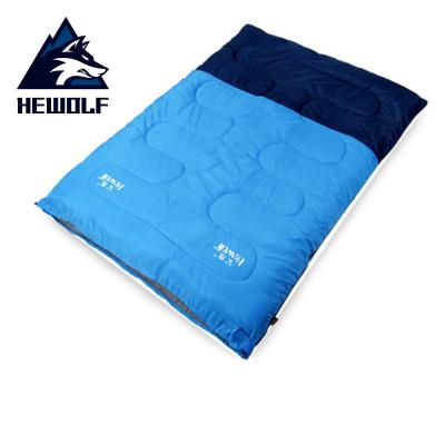 公狼(Hewolf)睡袋戶外純棉午休室內露營成人春秋冬季信封加厚保暖雙人睡袋