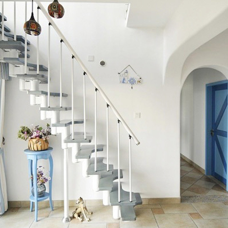 楼梯厂家定做室内整体楼梯 旋转楼梯 钢木楼梯 阁楼楼梯 斜梁楼梯