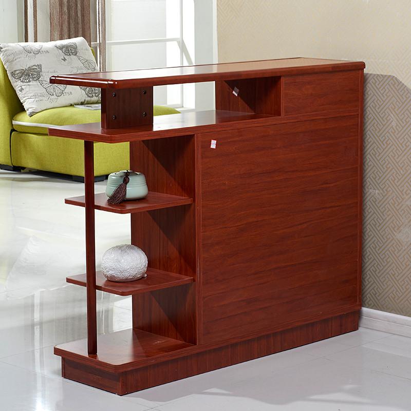新中式双面鞋柜 客厅玄关隔断柜 边框实木红柚木色现代简约鞋柜